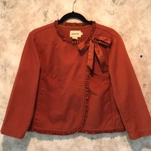 Rust Cotton Jacket by Maestro